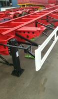 集装箱骨架车高性价多尺寸骨架式集装箱半挂车图片