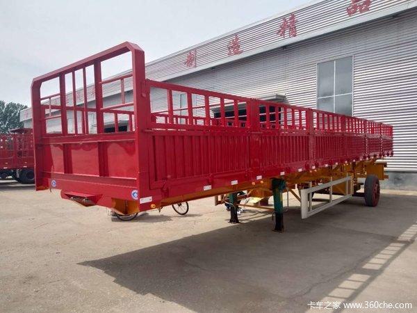 仓栅式半挂车整车高强钢制作自重轻仓栅式半挂车图片