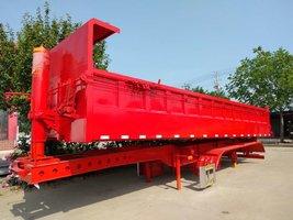 一体后翻内高85公分9米长不改型自卸半挂车