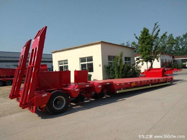 低平板半挂车整车高强钢制作厂家直销低平板半挂车图片