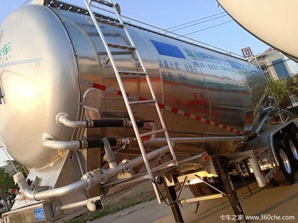 盛润双安全免税罐车粉粒物料运输半挂车图片