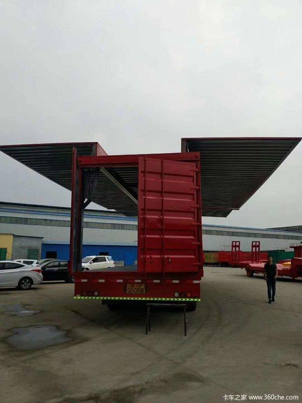 集装箱运输半挂车,厂家销售骨架式集装箱半挂车图片