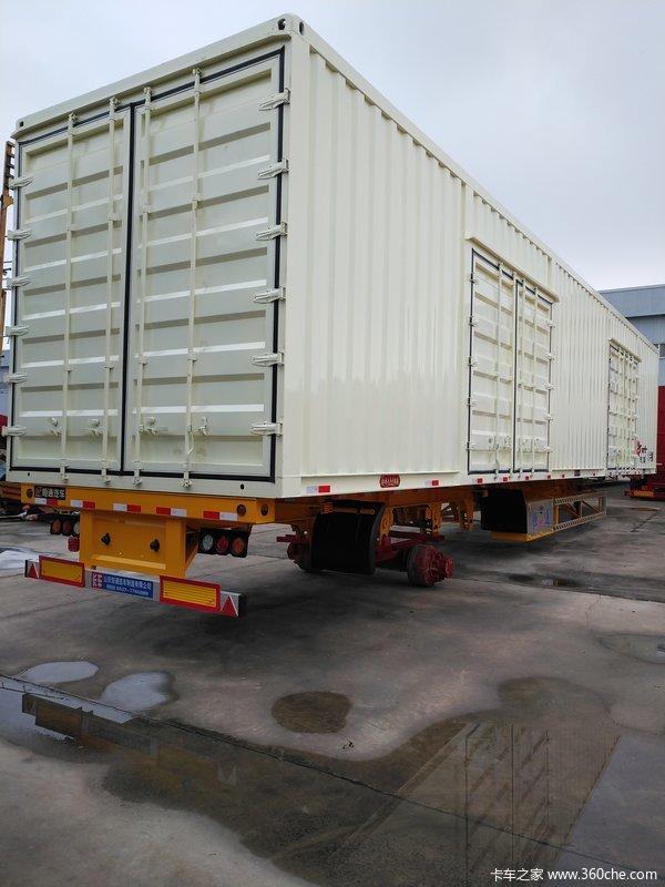 14米骨架集装箱式半挂车图片
