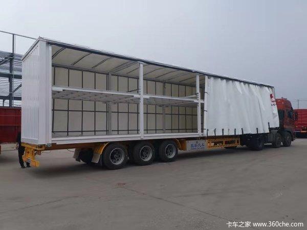 侧帘半挂车,欧洲工艺,自重轻集装箱式半挂车图片