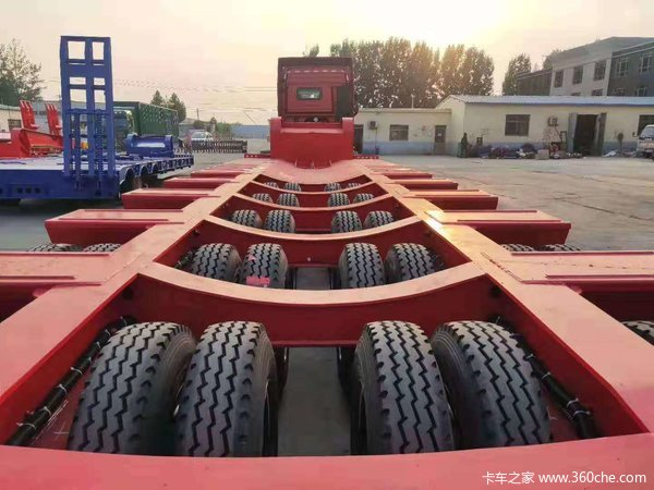 三线六轴四线八轴五线十抽厂家直销工程机械运输抽拉轴线半挂车轴线挂车图片