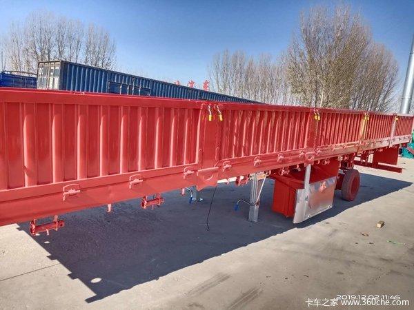 厂价出售13米轻型标车自卸半挂车,可分期付款自卸半挂车图片