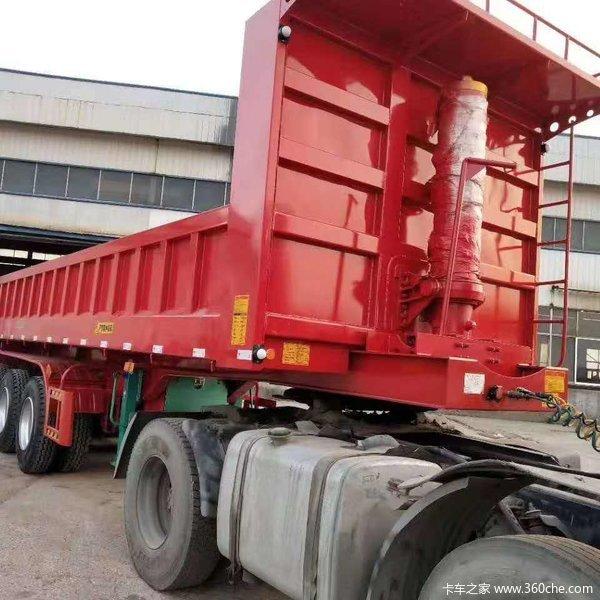 砂石料,自重轻,承载力更强,国家工信部公告企业自卸半挂车图片