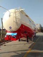 35方超轻罐车整车自重5.3吨粉粒物料运输半挂车图片