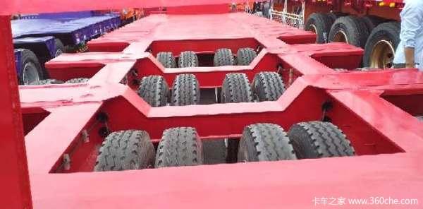 三线六轴四线八轴大件运输半挂车低平板半挂车图片