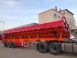 13米侧翻自卸半挂车,可根据客户运输订做,中集蜗牛厂家直销自卸半挂车
