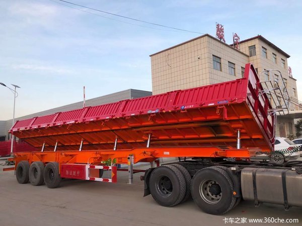 13米侧翻自卸半挂车,可根据客户运输订做,中集蜗牛厂家直销自卸半挂车图片