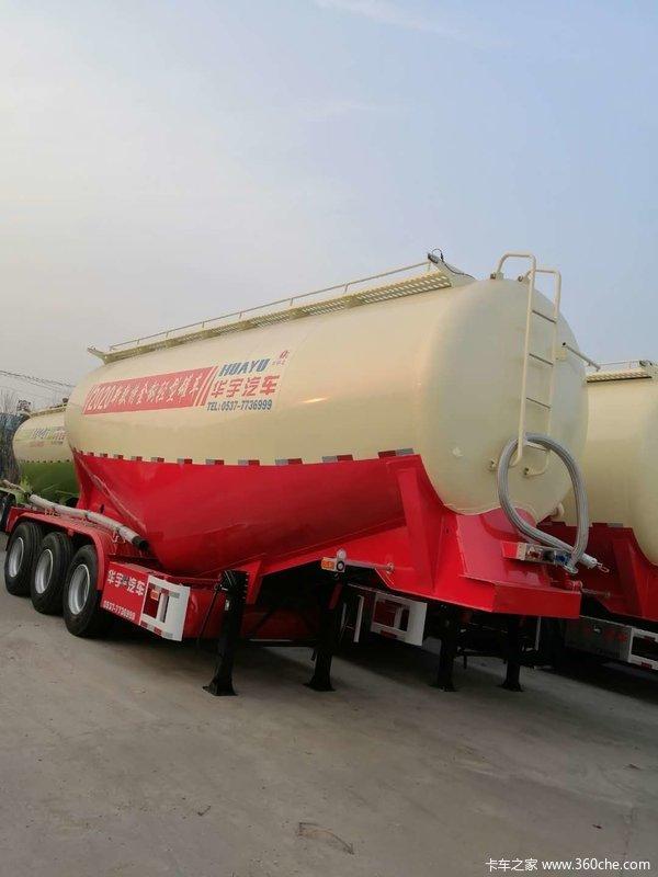 散装水泥罐运输车粉粒物料运输半挂车图片