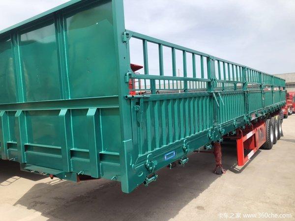13米600箱板标车侧翻外加一层花篮自卸半挂车图片