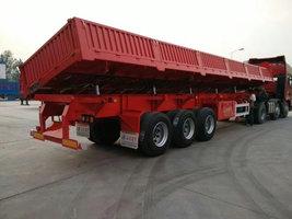 标车侧翻,13米*2.55米*0.6米,轻量化车型,面向全国支持按揭自卸半挂车