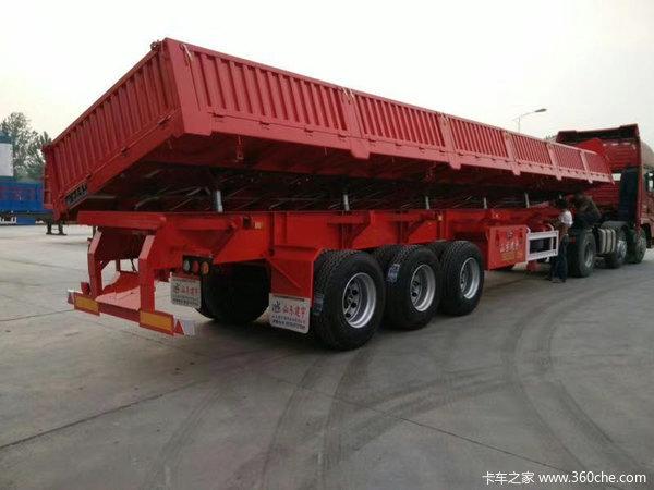 标车侧翻,13米*2.55米*0.6米,轻量化车型,面向全国支持按揭自卸半挂车图片