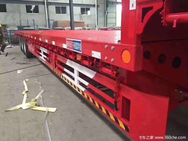 江苏富华挂车新款平板可定做低平板半挂车图片