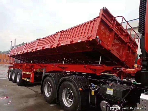 11米侧翻标载神器整车5.6吨自卸半挂车图片