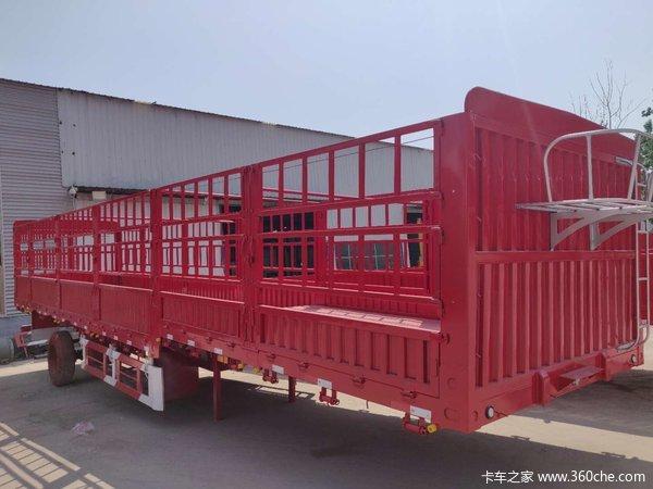轻型仓栏半挂车,整车5.8吨!!栏板式半挂车图片