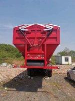 智能输送带卸货车自卸半挂车