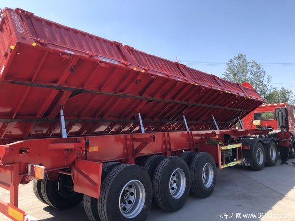 13米600箱板,全国正常上户型、可包牌自卸半挂车图片