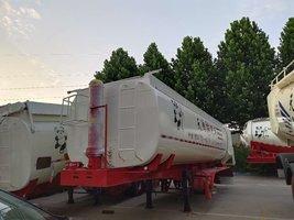罐式后翻自卸轻量化设计自重轻多拉货最长10米可以做40方自卸半挂车