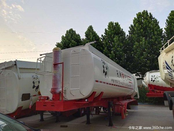 罐式后翻自卸轻量化设计自重轻多拉货最长10米可以做40方自卸半挂车图片