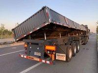 烈牛品牌灰熊侧翻自卸,13米厂,贵州重汽合作伙伴!厢式半挂车图片
