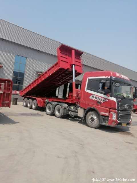 8.5米、9米、9.5米、10米后翻自卸车,专业生产,质量第一,使用放自卸半挂车图片