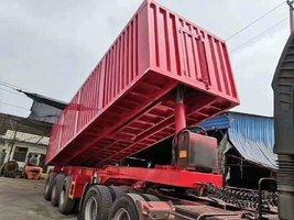 8.5米,9米厢式后翻,隐藏顶式,载货可轻可重,适用途广,自卸半挂车