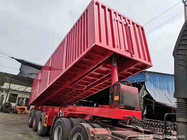 8.5米,9米厢式后翻,隐藏顶式,载货可轻可重,适用途广,自卸半挂车图片