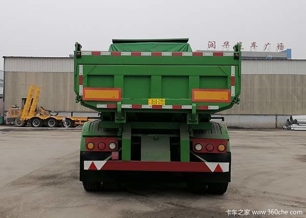 厂家直销自卸后翻半挂车8.599.5米定做含运费自卸半挂车图片