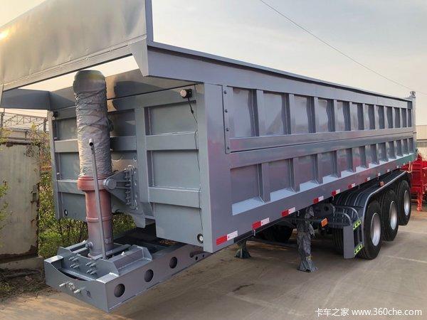 9.5米一体后翻,可选电动篷布、加高二门自卸半挂车图片