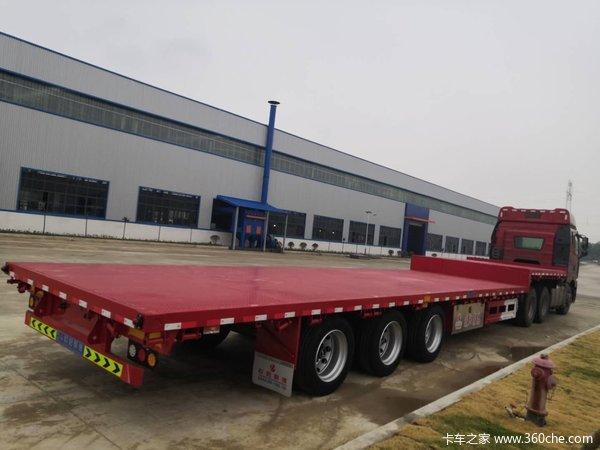 13米75×3米宽低平板半挂车(13.75×3米)-湖北欧阳聚德挂车厂低平板半挂车图片