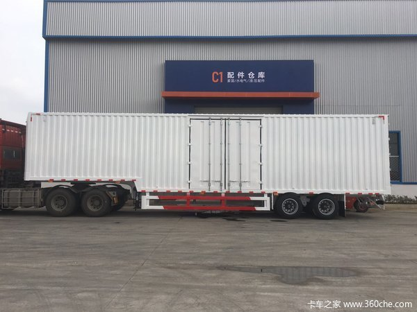 13.75米两桥集装箱式半挂车,一体式,超强钢轻量化设计-湖北欧阳聚德厢式半挂车图片