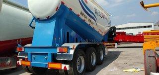 水泥罐车下灰车煤灰车立方可选粉粒物料运输半挂车