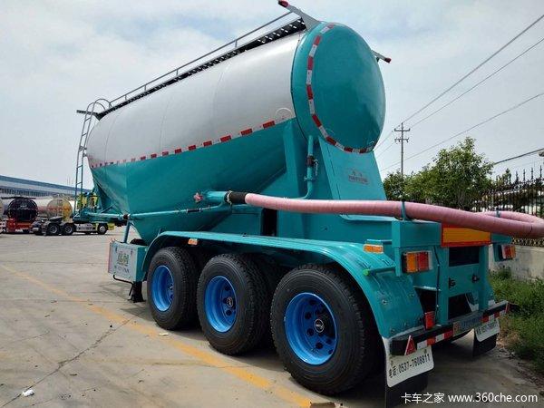 水泥罐车下灰车煤灰车立方可选粉粒物料运输半挂车图片
