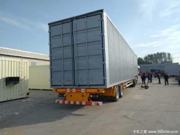 集装箱式运输半挂车厂家订做厢式半挂车图片