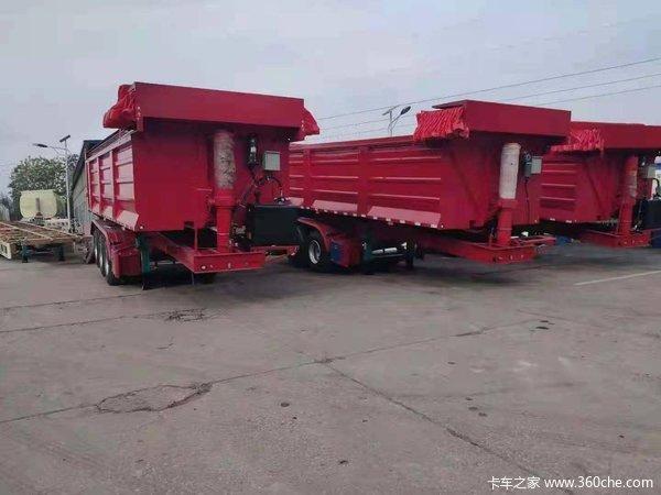 9米长,2.55米宽,1.5米高后翻一体自卸车自卸半挂车图片