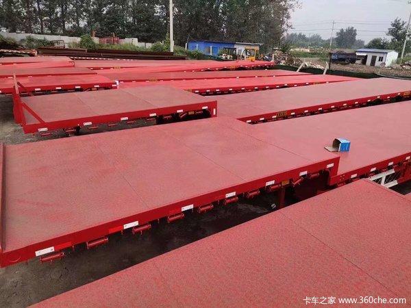 17.5米低平板3米宽大板,13.75米前后等宽大板,全国包手续上路,低平板半挂车图片