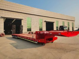 湖南湖北低平板半挂车大件运输车,山东低平板欢迎选购凹梁式低平板
