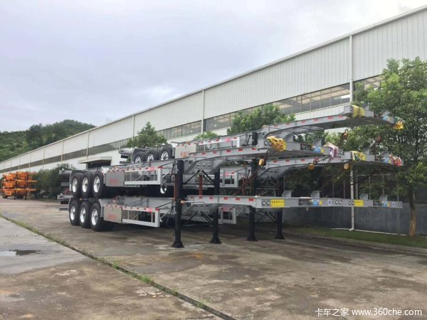 30、40、45英尺二轴三轴集装箱半挂车骨架式集装箱半挂车图片