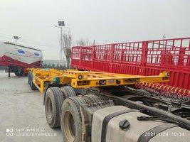 40英尺两个20英尺集装箱骨架运输车集装箱式半挂车