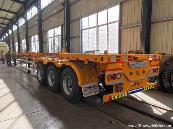40尺集装箱运输半挂车集装箱式半挂车图片