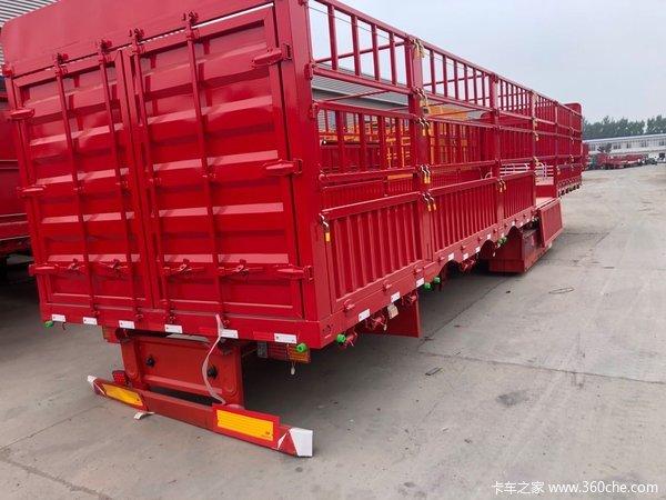 13米高栏全车高强自重轻仓栅式半挂车图片