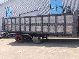 一体后翻1.6米厢高车长9米可以旧换新自卸半挂车