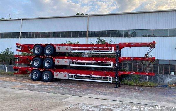 长沙挂车厂各种半挂车车型骨架式集装箱半挂车图片