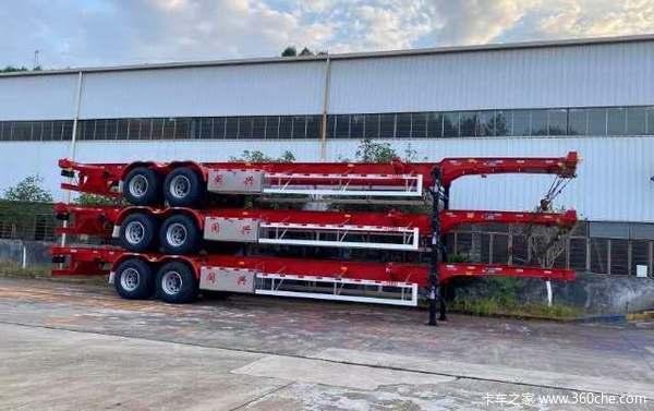 20、30、40、45英尺危险品及普货集装箱骨架骨架式集装箱半挂车图片