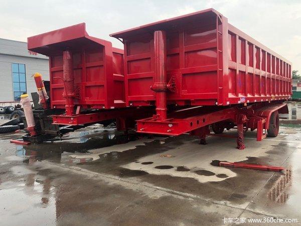 一体自卸半挂后翻厢高1.5米1.6米1.8米不改型不加高自卸半挂车图片